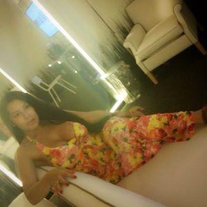 Cache Floral Maxi Dress